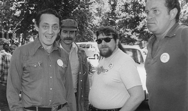 Harvey Milk at Gay Pride San Jose, June 1978.