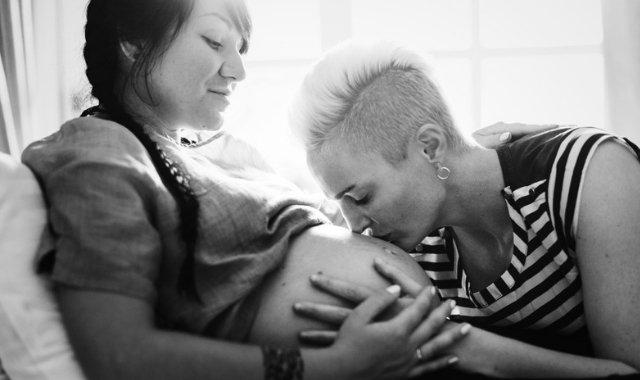lesbian couple raising a gay family